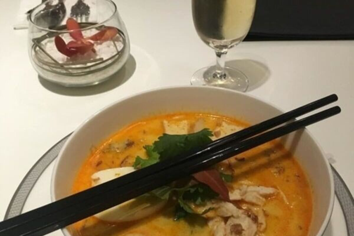 Singapore Airlines First Class Silverkris laksa