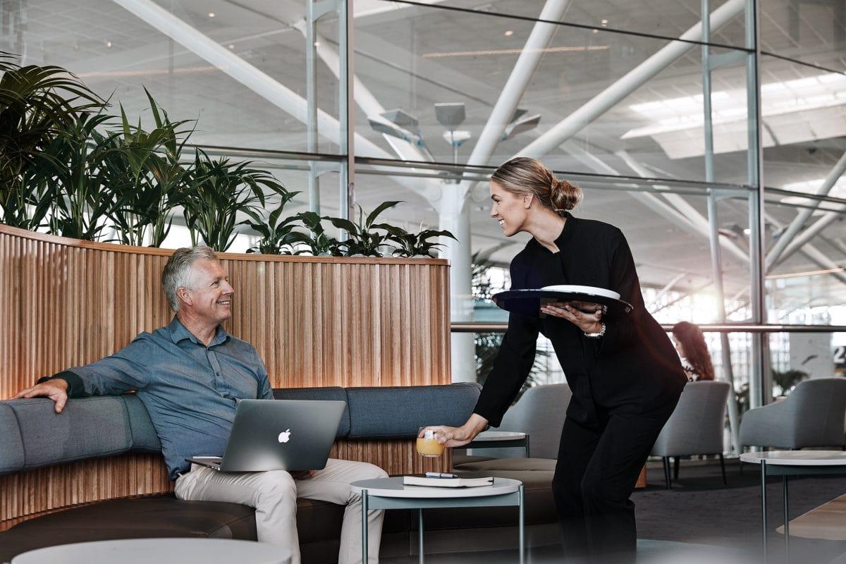 TCM Qantas Club Brisbane lounge