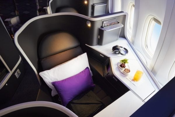 Virgin Business Class Seat, Velocity Frequent Flyer