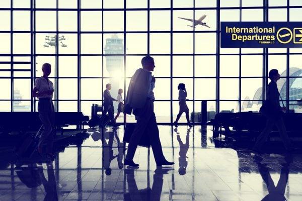 International Departures lounge background image