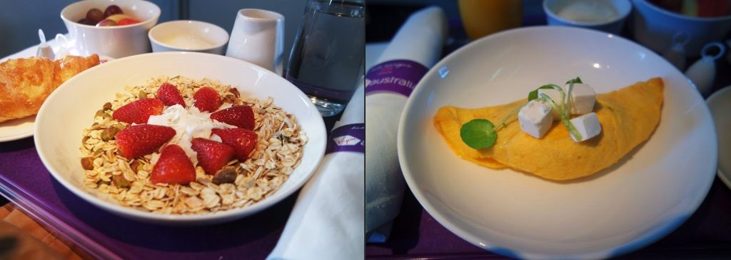 Virgin Australia Business Class 737 meal
