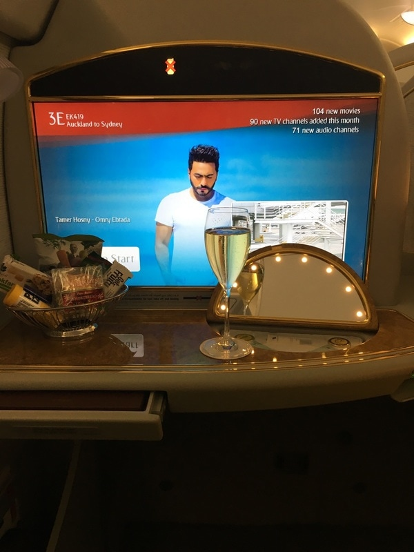 Emirates First Class Suite console