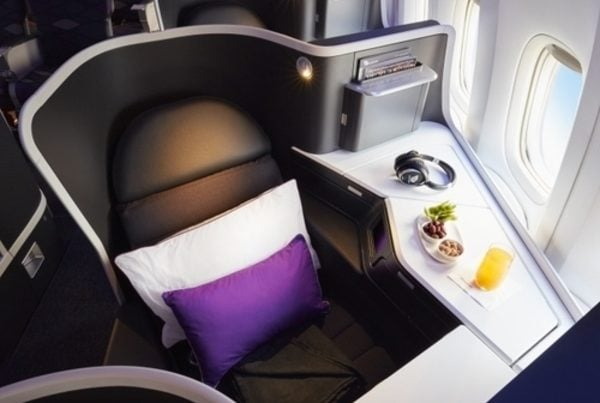 Virgin Business Class Seat, Velocity Frequent Flyer, Five Uses of 100,000 Velocity Points 1