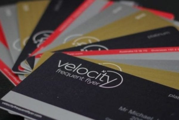 Velocity Frequent Flyer card fan