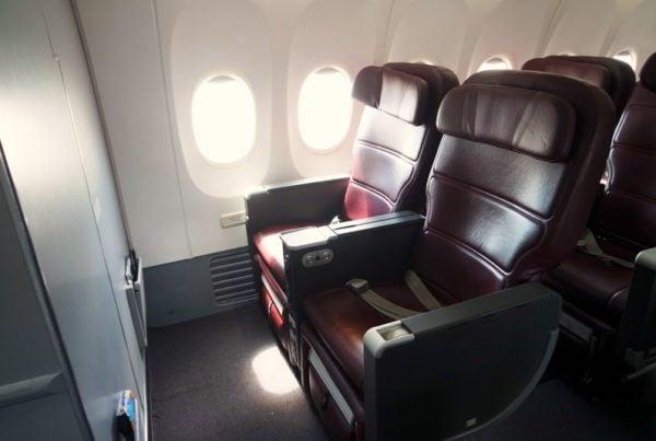 Qantas 737 Business Class cabin