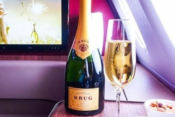 krug champagne First Class Flights 40,000 points