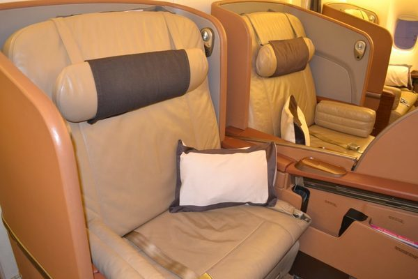 Singapore Airlines First Class 777-300 cabin seats