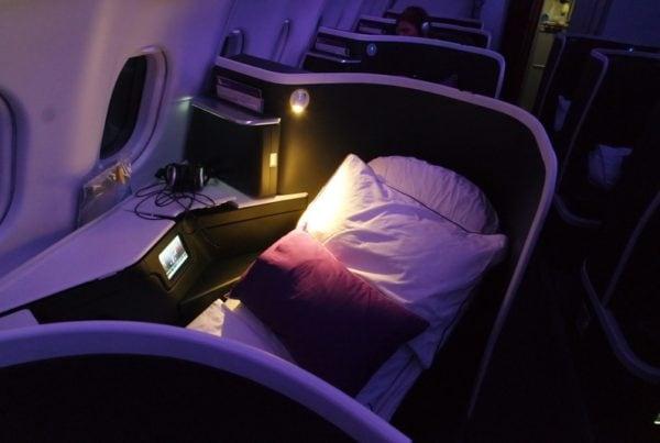 Virgin Australia the Business Turndown service on an overnight flight