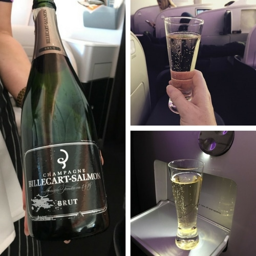 Air New Zealand champagne