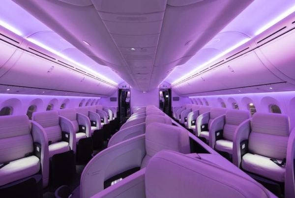 Air New Zealand Dreamliner business cabin