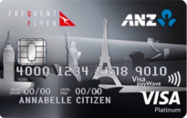 ANZ Frequent Flyer Platinum Qantas Visa Credit Card