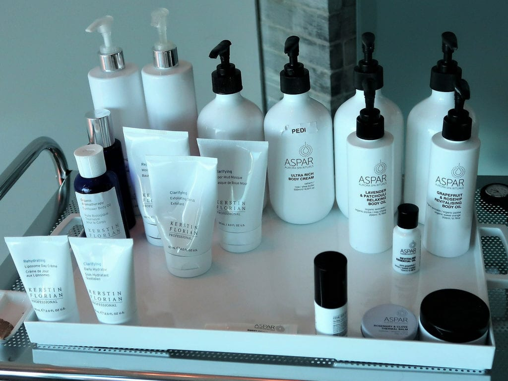 qantas first spa aspar products