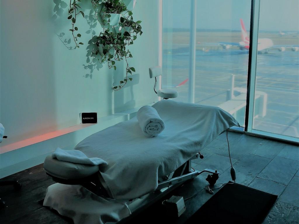 qantas first treatment room table melbourne