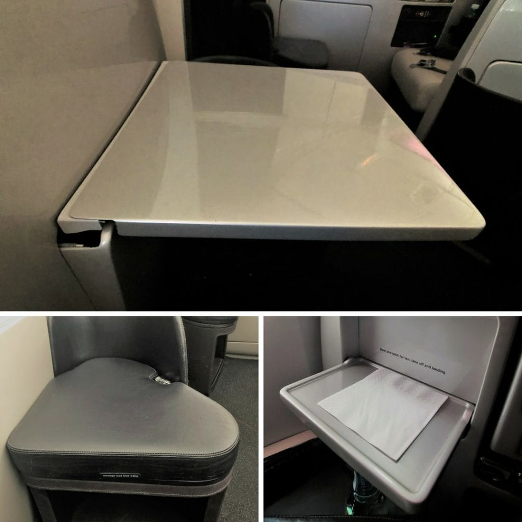 air new zealand business class storage