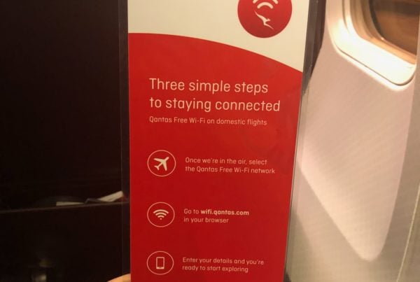 qantas wifi information card