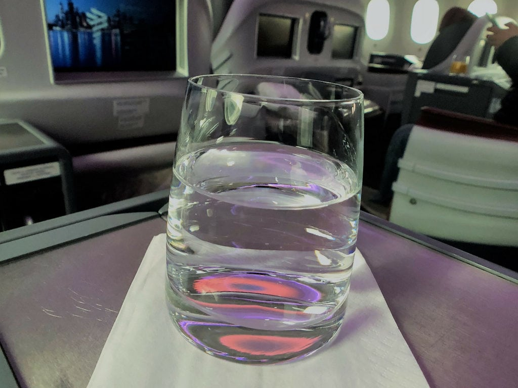 Latam business class PRE DEPARTURE WATER