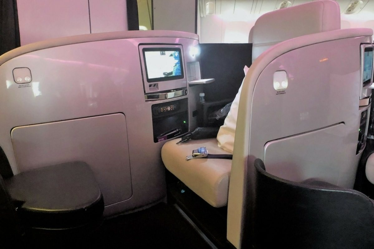 Air New Zealand Business Class Premier seat