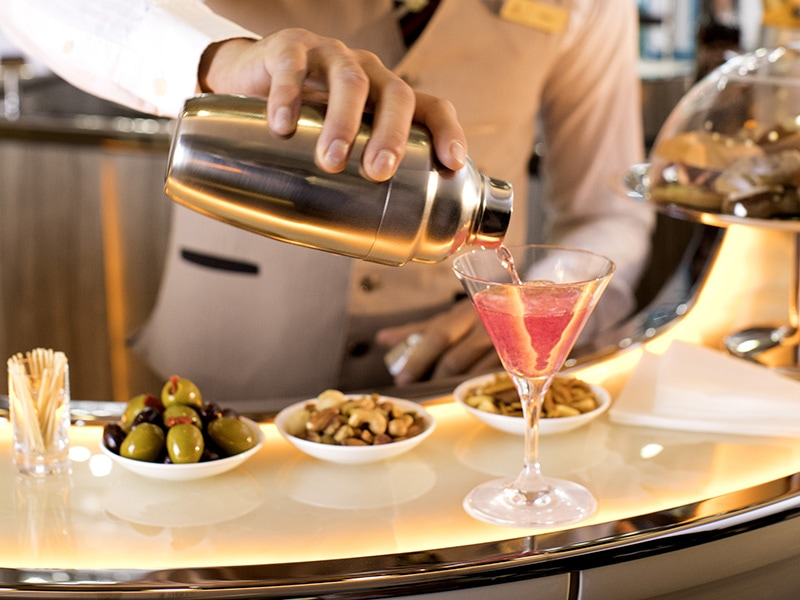 emirates a380 bar cocktail