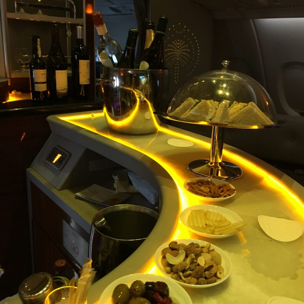 emirates a380 bar spread