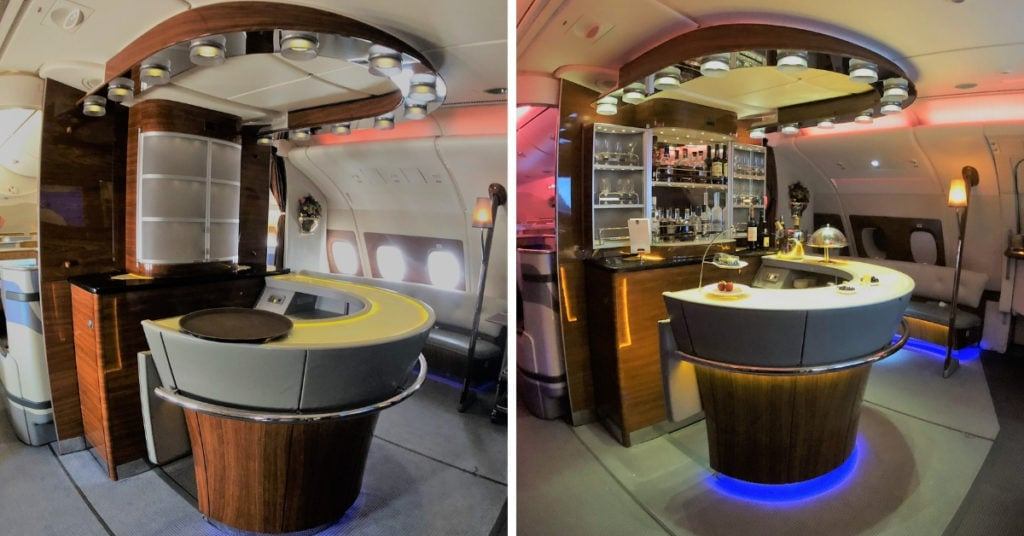 emirates a380 bar transformation