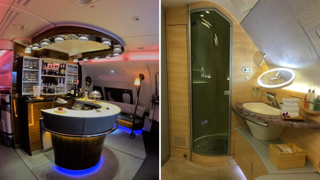 emirates bar and shower