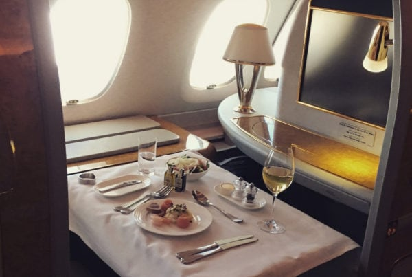 emirates first class dining