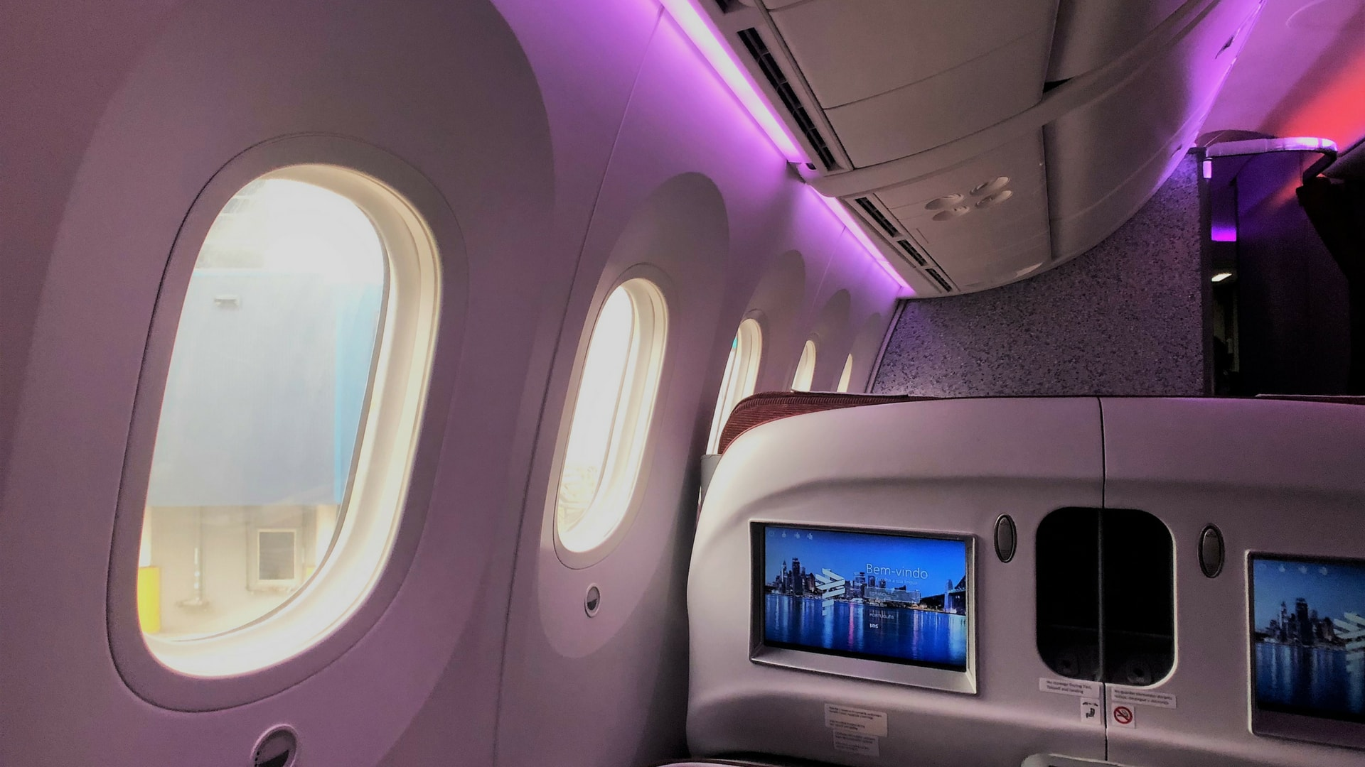 latam business class seat view