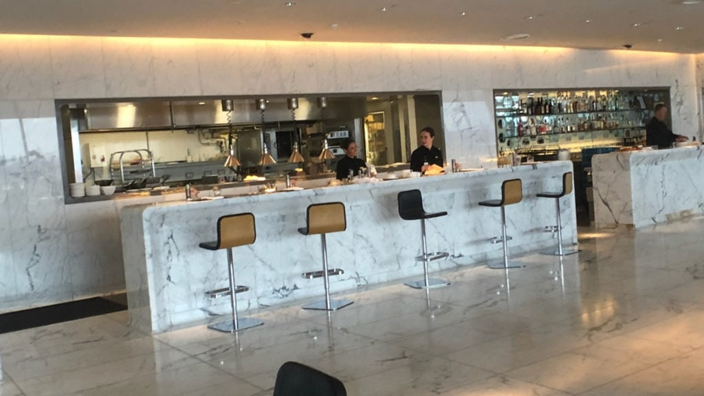 qantas first class lounge sydney bar one