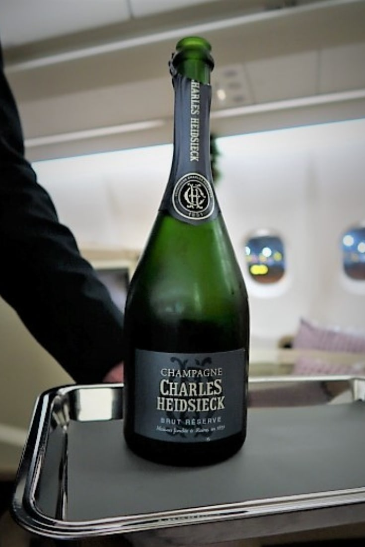 singapore airlines a330 business class champagne Heidsieck
