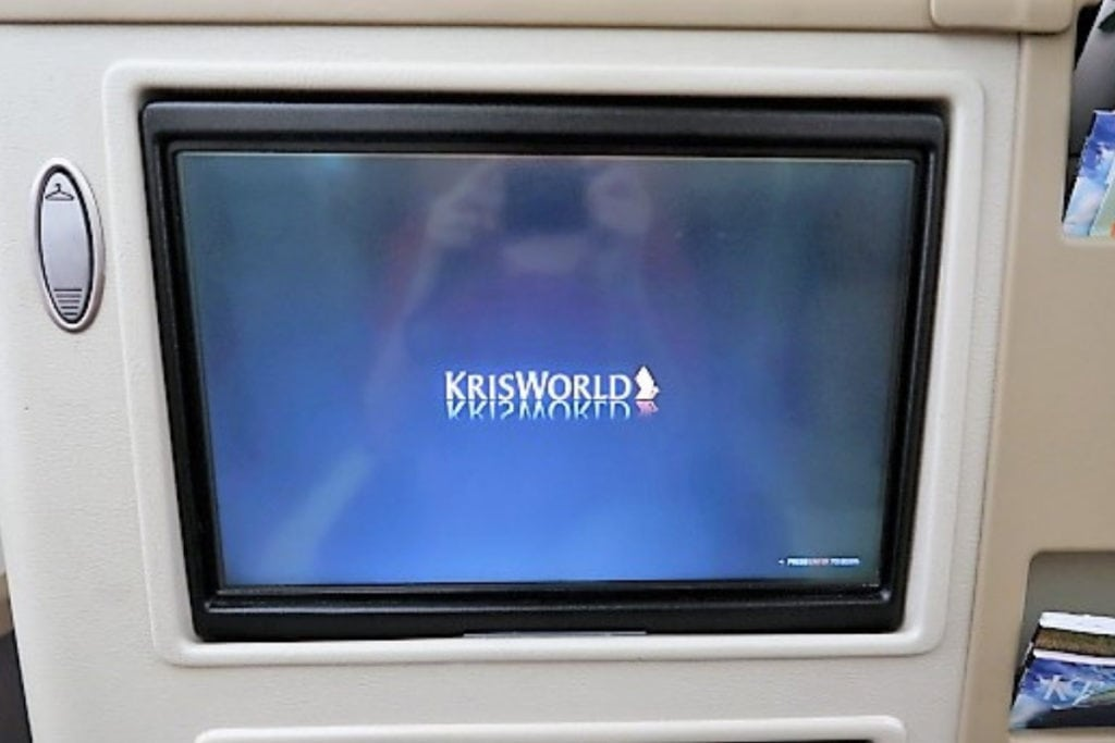singapore airlines a330 business class entertainment screen