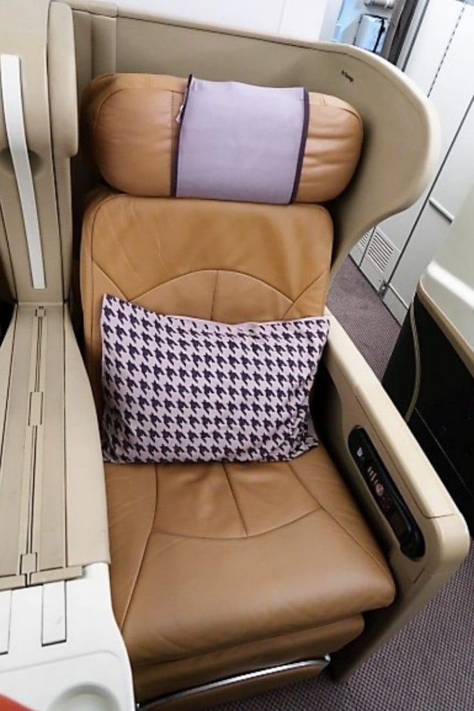 singapore airlines a330 business class seat front