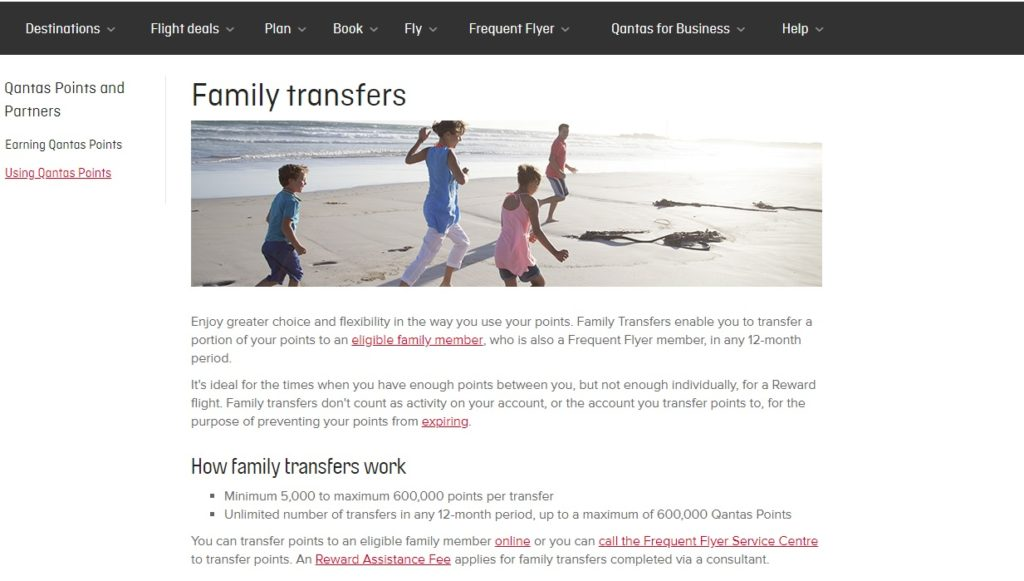 transfer qantas points two