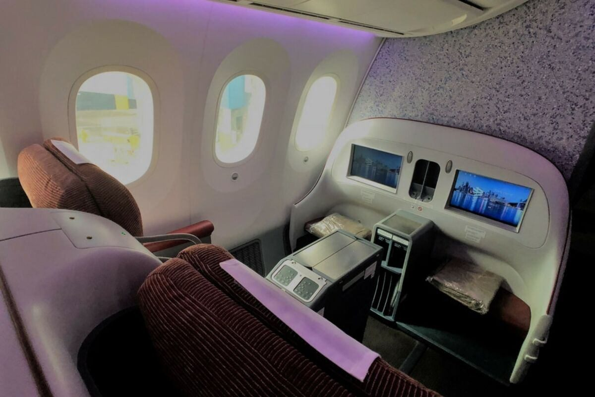 Latam Business Class seat