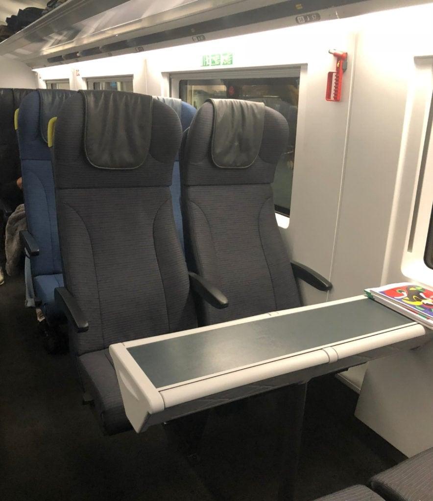 Eurostar Standard seat
