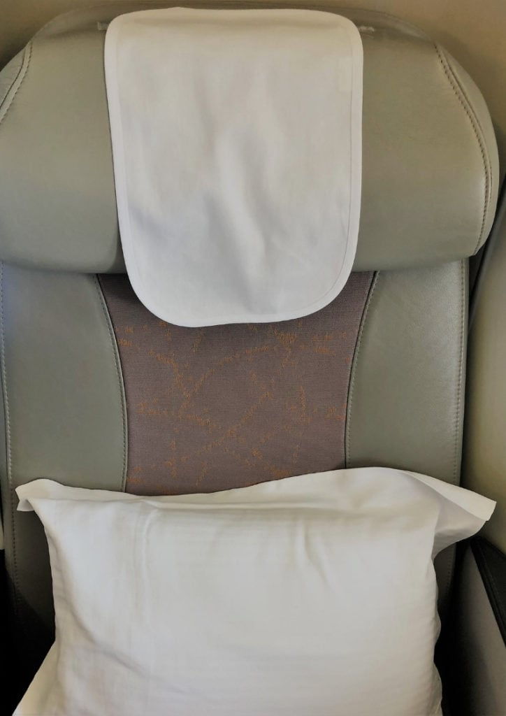 emirates business class review a380 seat close