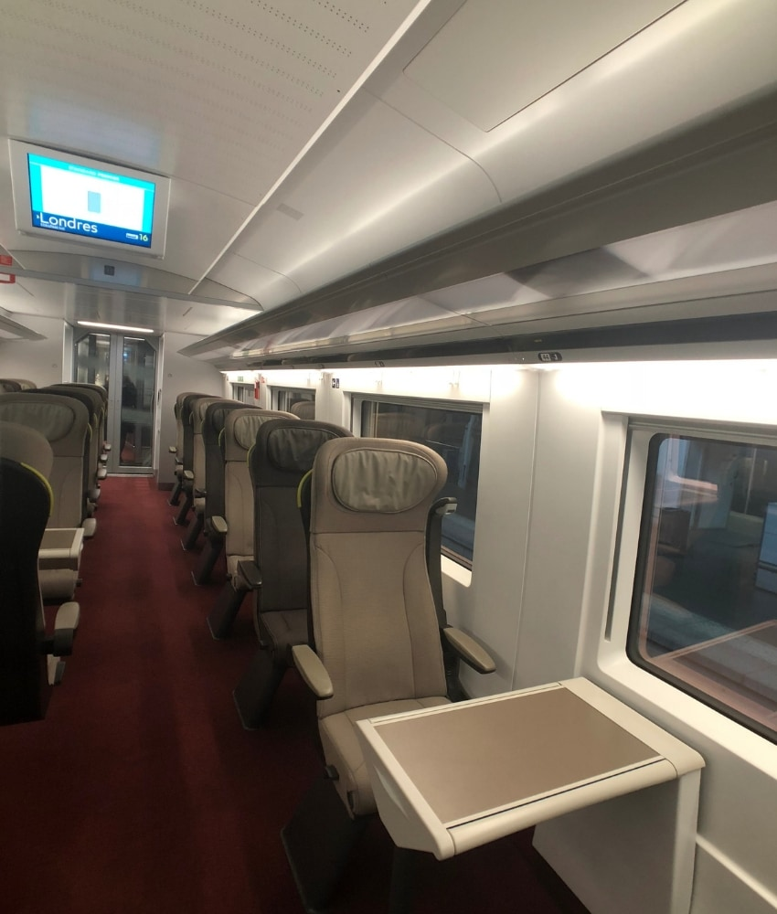 eurostar train review standard premier cabin