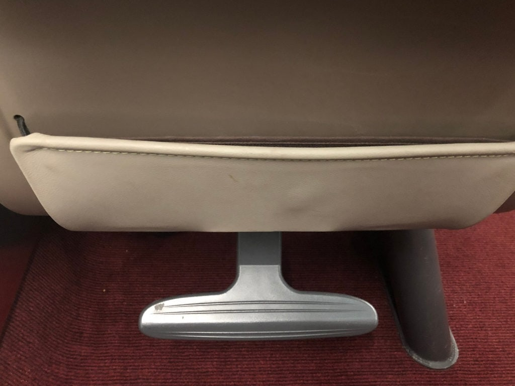 eurostar train review foot rest