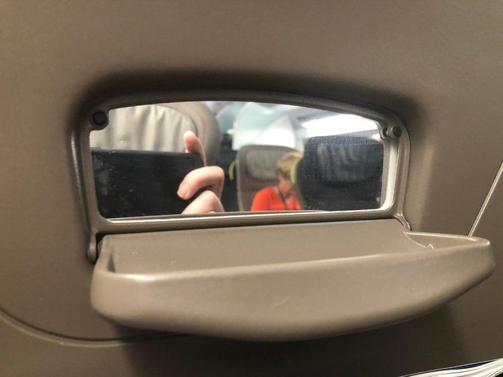 eurostar train review standard premier seat mirror