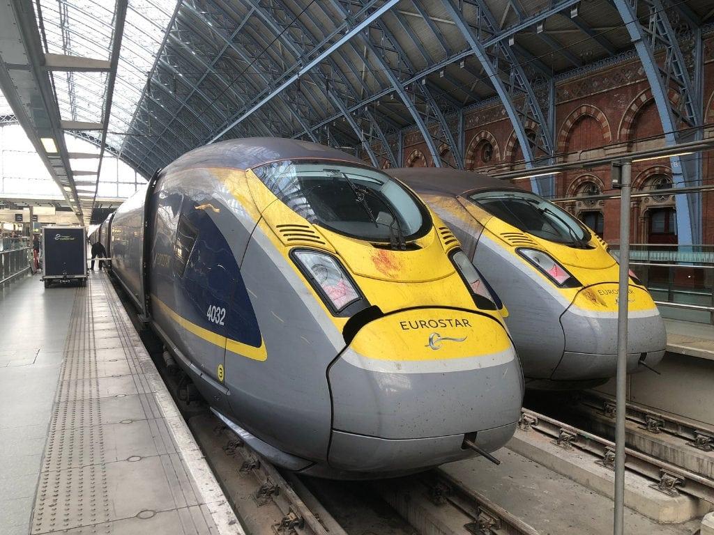 eurostar review train st pancras
