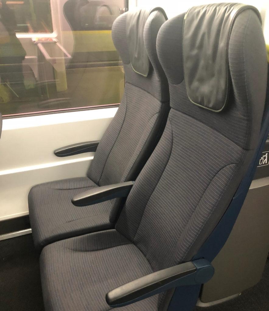 eurostar standard seat side view