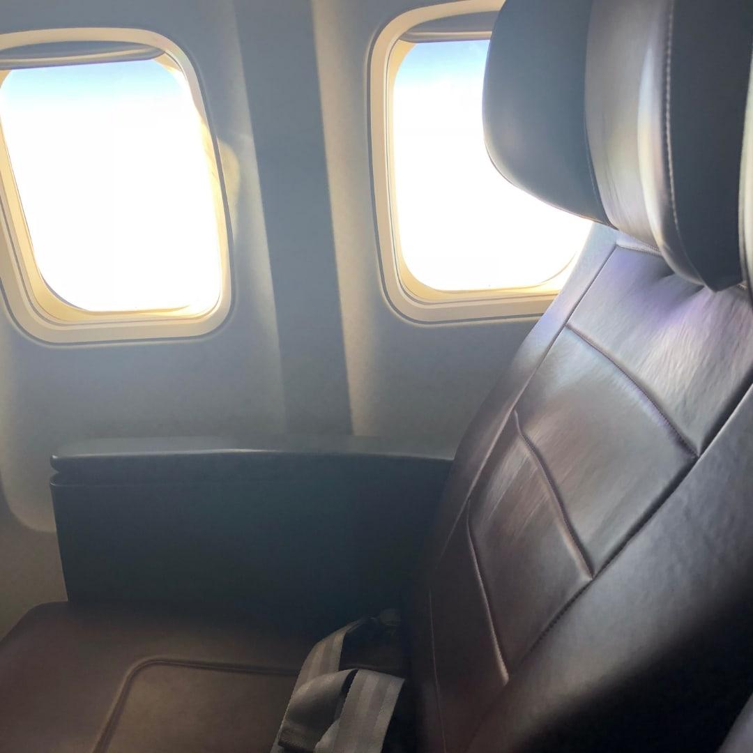 Qantas domestic business class seat on 737