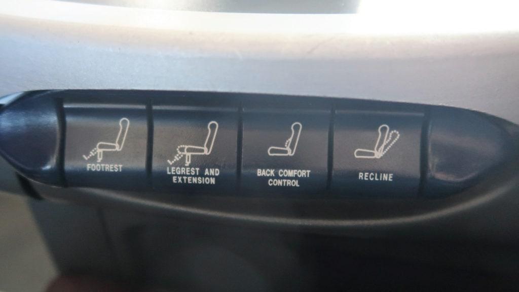 qantas 737 business class seat controls