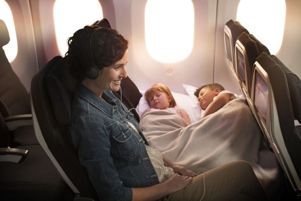 air new zealand skycouch adult two children