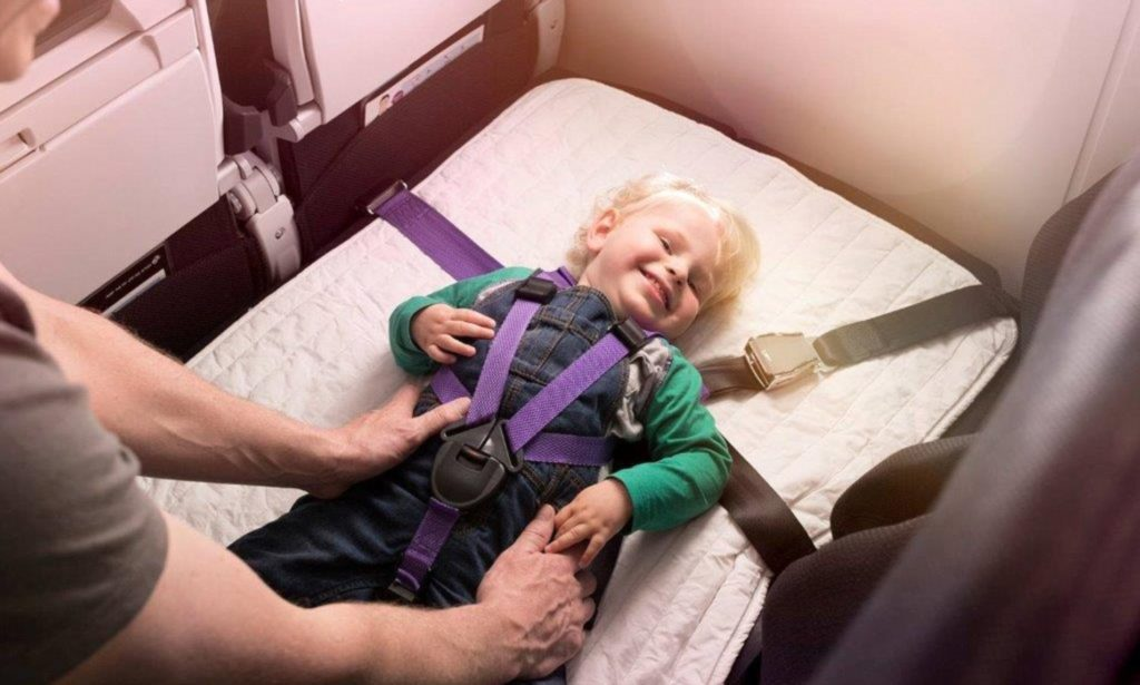 air new zealand skycouch child harness