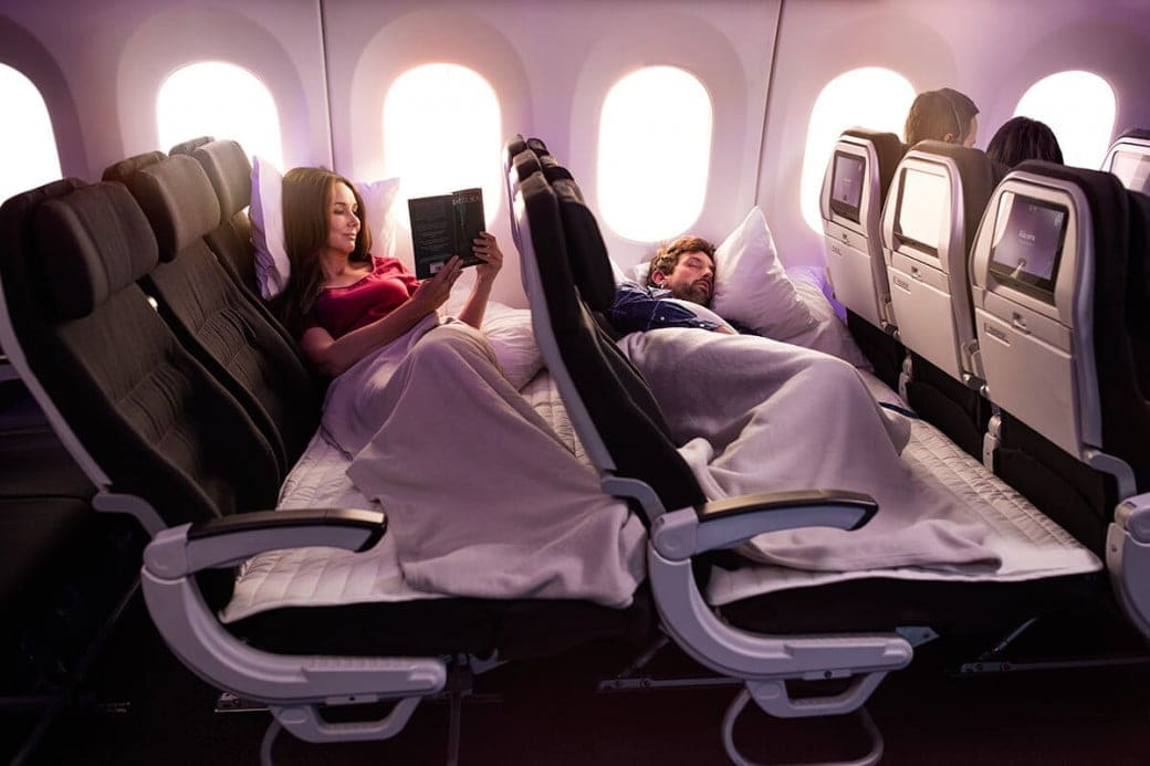 air new zealand skycouch two adults