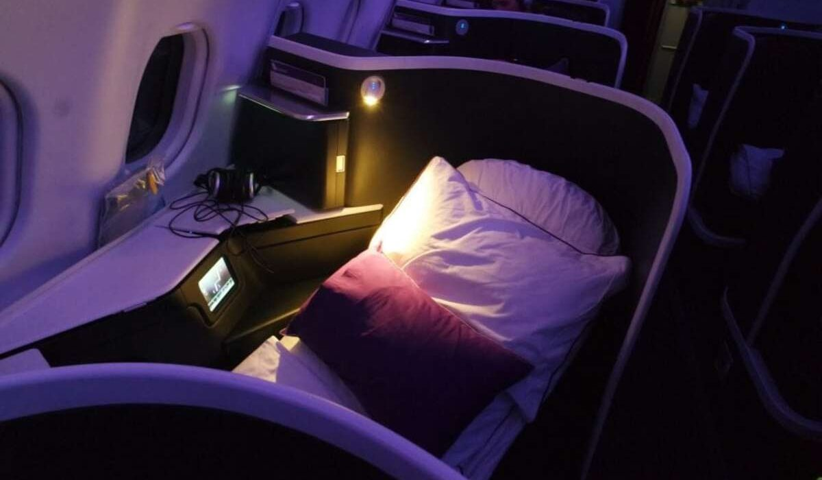 Virgin Australia the Business Turndown service on an overnight flight