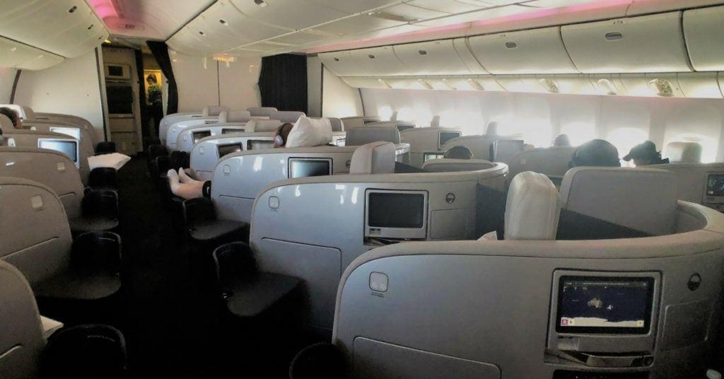 air new zealand business class cabin