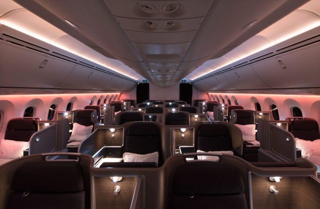qantas dreamliner 787 business cabin larger