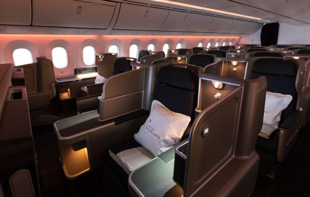 qantas dreamliner 787 business seat