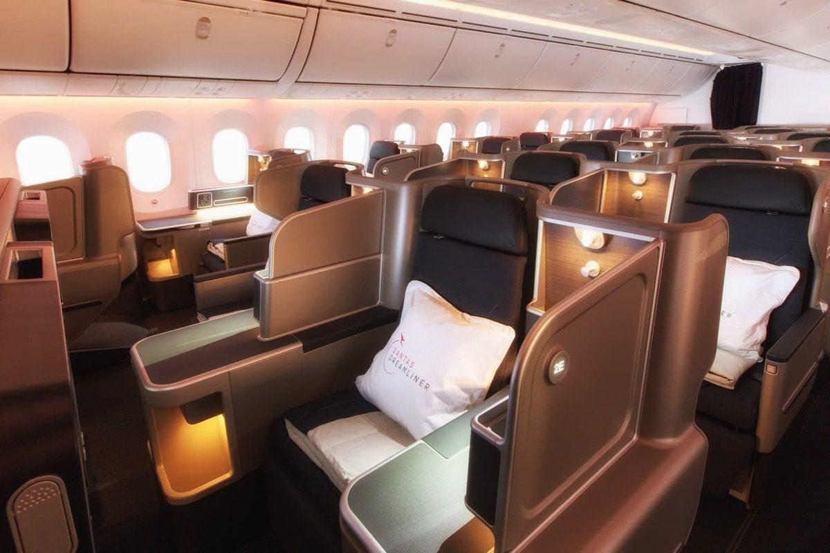 Qantas Business Class Dreamliner cabin